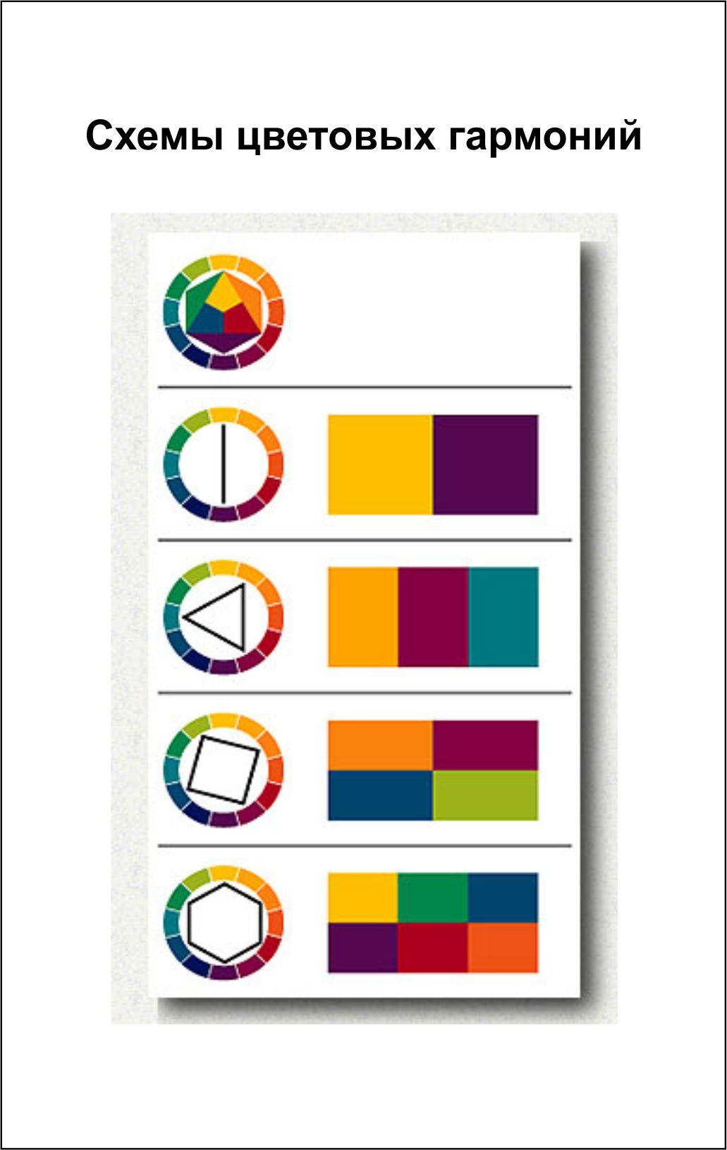 Цветовые схемы гармонии цветов