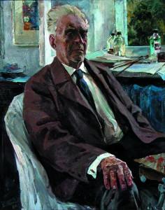Б.К. Евлентьев. Портрет художника Илюшина. 1975. КОХМ
